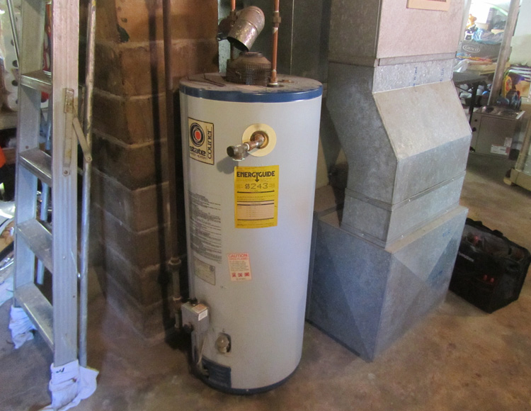 Hot Water Heater - Before